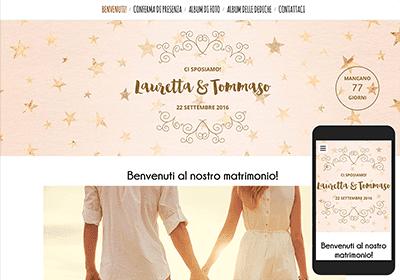Agganciare sito Web per sposato