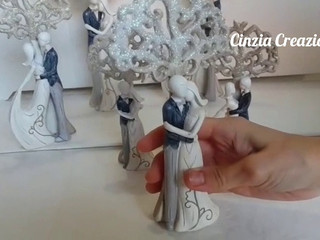 Bomboniera matrimonio sposi albero