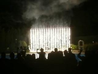 Fontane e cascata luminosa