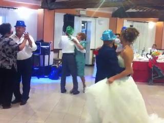 Ballo dei genitori con Rose Rosse
