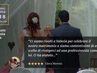 Wedding Awards 2018 Celebrante Cerimonia Essenza Eventi