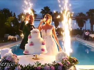 Fontane Luminose, entrata sposi taglio torta + momento romantico