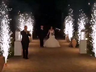 Fontane Luminose, entrata sposi, taglio torta + momento romantico