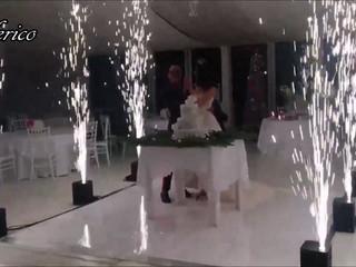 Fontane luminose a disposizione degli sposi