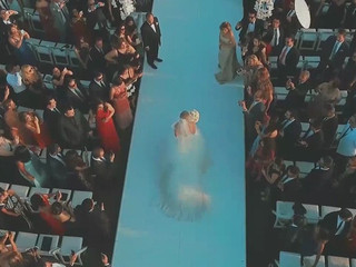 Drone shot wedding