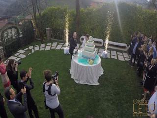 Fontane luminose per il Taglio torta