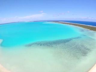 La laguna di Aitutaki, nell'arcipelago delle Isole Cook