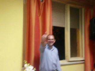Stefano D'Alberto animatore nel trenino con gli sposi tanti auguri di Raffaella Carra