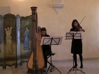 Arpa e violino. Ave Maria (Gounod)