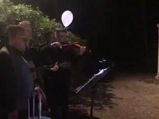 """Trio acustico """"a cappella"""" per il taglio della torta"""