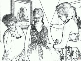 Wersione cartoon di un Wedding meraviglioso Sara e Stefano