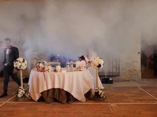 Ingresso sposi con geyser
