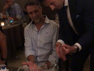 Con Gabriel  Omar Batistuta.