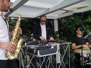 Trio sax dj e percussioni