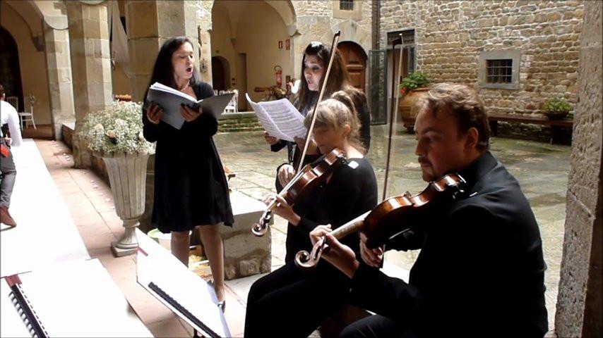 Band Matrimonio Toscana : Flower duet voci e string quartet firenze classica