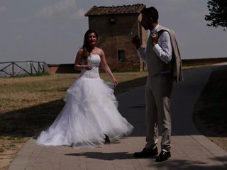 Wedding Video Reportage in Siena Downtown with Backstage HD
